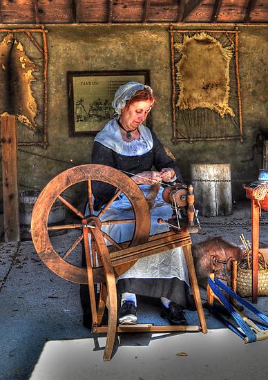 Spinning Yarn by Kathy Baccari