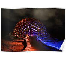 The Dome - Light Painting - Sculptures By The Sea Poster