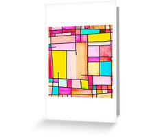 Abstract of city Greeting Card