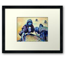 Fishing in muddy waters Framed Print
