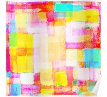 abstract geometric colorful pattern Poster