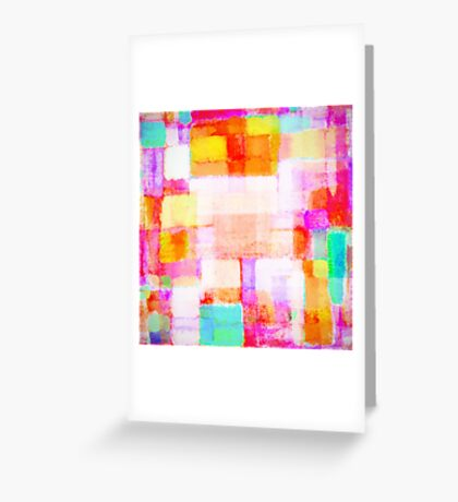 abstract geometric colorful pattern Greeting Card
