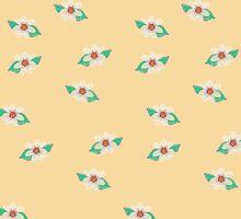 Yellow Floral Textured Art iPad Case by Cherie Balowski