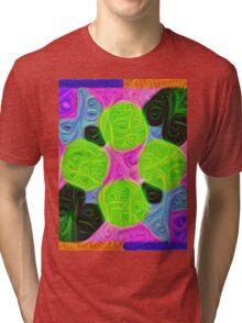 #DeepDream Color Squares Visual Areas 5x5K v1448212784 Tri-blend T-Shirt