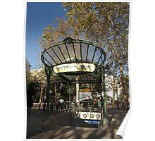 Abbesses station  art deco entrance, Paris Poster