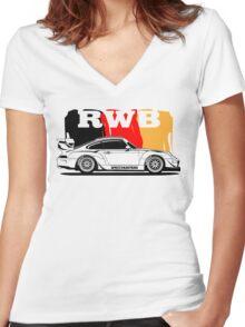 RWB Germany Women's Fitted V-Neck T-Shirt