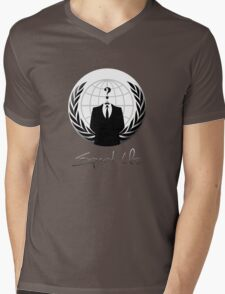 Anonymous - Expect Us Mens V-Neck T-Shirt