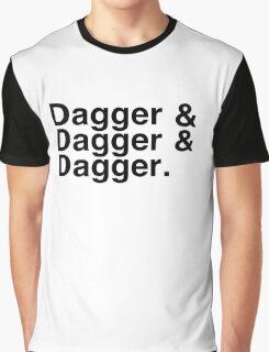 Helvetica List - Dagger Dagger Dagger - Critical Role Graphic T-Shirt