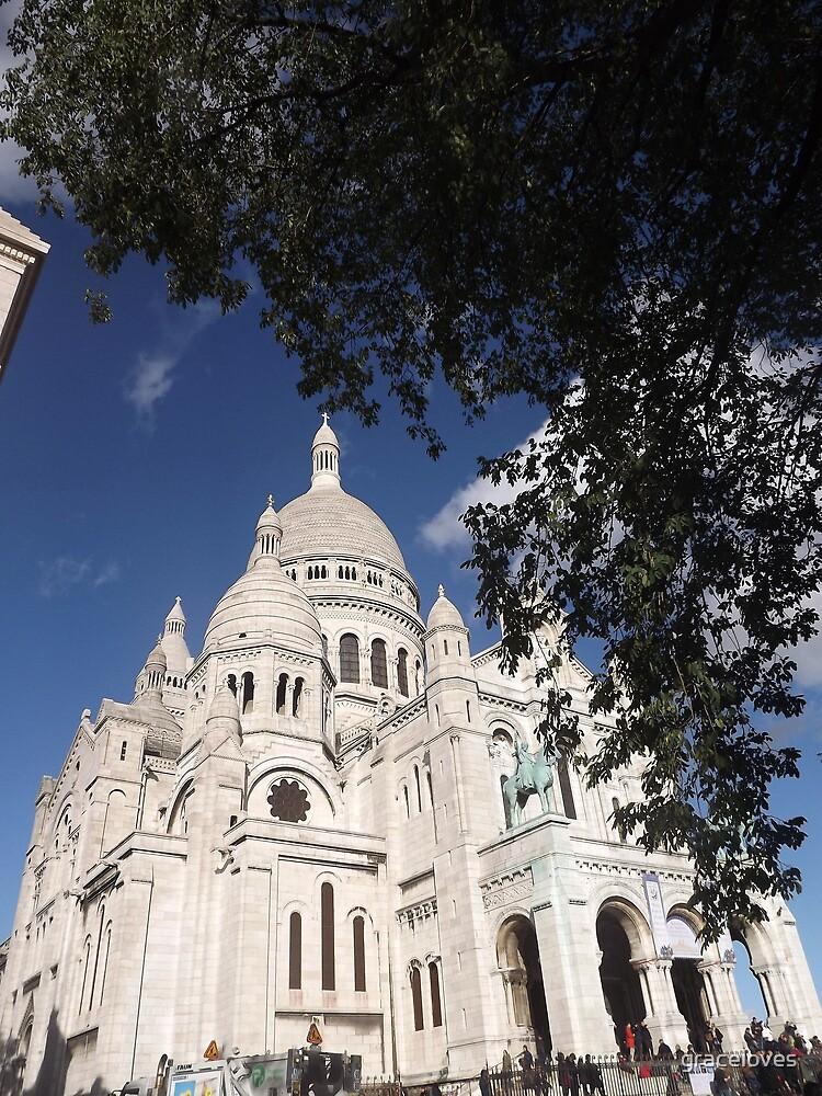 Sacre Coeur, Montmatre, Paris by graceloves