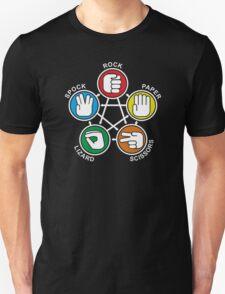 Big Bang Theory Sheldon Rock Paper Scissors Lizard Spock cool geek T-Shirt