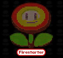 firestarter mario fire bloom ipad cover by kennypepermans