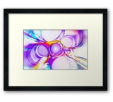 abstract of circle Framed Print