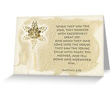 When they saw the star... Greeting Card