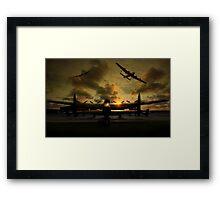 Sunset Lancaster Bombers Framed Print