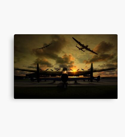 Sunset Lancaster Bombers Canvas Print
