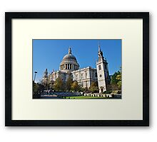 St. Pauls Cathedral, City of London Framed Print