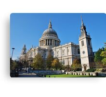 St. Pauls Cathedral, City of London Canvas Print