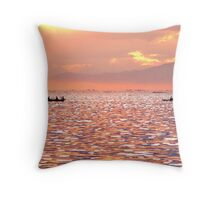 Sunset by the bay Throw Pillow