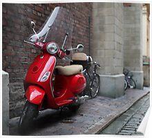 Vespa a scooter Poster