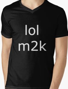 lol m2k - white text  Mens V-Neck T-Shirt