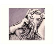 Phone Call of Cthulyn Art Print