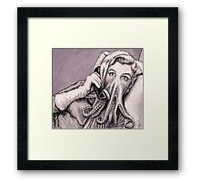 Phone Call of Cthulyn Framed Print