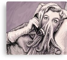 Phone Call of Cthulyn Canvas Print