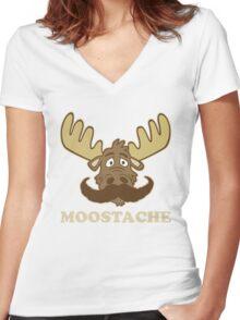 Moostache Women's Fitted V-Neck T-Shirt