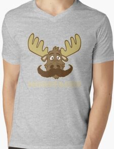 Moostache Mens V-Neck T-Shirt