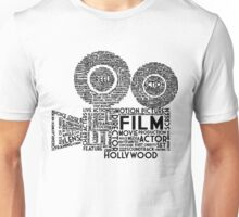 Film Camera Typography - Black Unisex T-Shirt