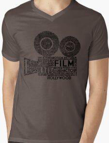 Film Camera Typography - Black Mens V-Neck T-Shirt
