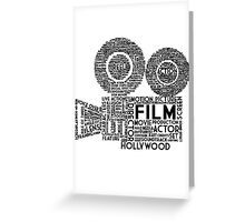 Film Camera Typography - Black Greeting Card