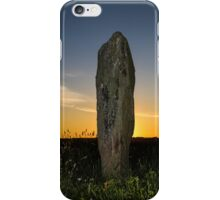 Standing stone at sunset iPhone Case/Skin