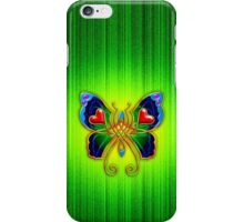 Celtic Butterfly on Green iPhone Case/Skin
