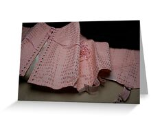Une gaine or a vintage corset ?  Greeting Card