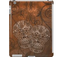Brown Grunge, Sugar Skulls iPad Case iPad Case/Skin
