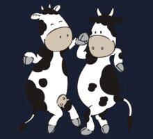 Mooviestars - Dancing Cows One Piece - Short Sleeve