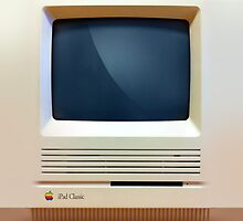 iPad Classic Retro Macintosh iPad Case by Alisdair Binning