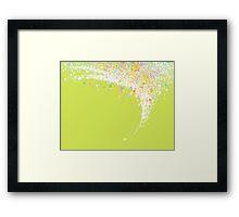 colors splashing Framed Print
