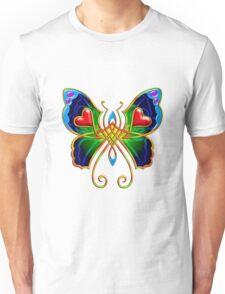 Celtic Butterfly on Green Unisex T-Shirt