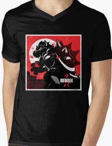 Bowserzilla Mens V-Neck T-Shirt