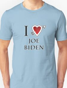 i love Joe Biden heart  Unisex T-Shirt