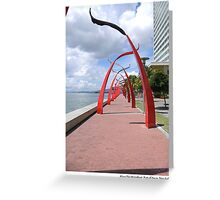 Along The Waterfront, Port-of-Spain, Trinidad. Greeting Card