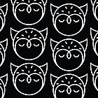 Black and White Owl Pattern by Mariya Olshevska