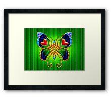 Celtic Butterfly on Green Framed Print
