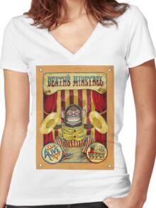 Death's Minstrel: Jolly Chimp Sideshow Banner Women's Fitted V-Neck T-Shirt