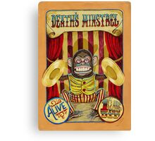 Death's Minstrel: Jolly Chimp Sideshow Banner Canvas Print