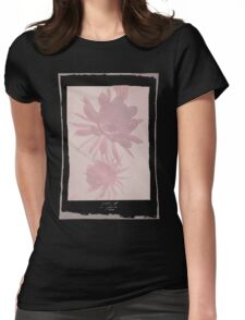 12th Doctor Negative Flower T-Shirt Womens Fitted T-Shirt