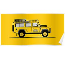 Land Rover Defender 110 Station Wagon Camel Trophy Poster