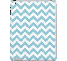 Blue and White Chevron Pattern iPad Case/Skin